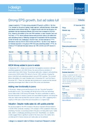 Strong EPS growth but ad sales lull