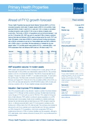 Ahead of FY12 growth forecast
