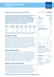 Tete resource rises to 725m