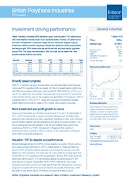 Investment driving performance